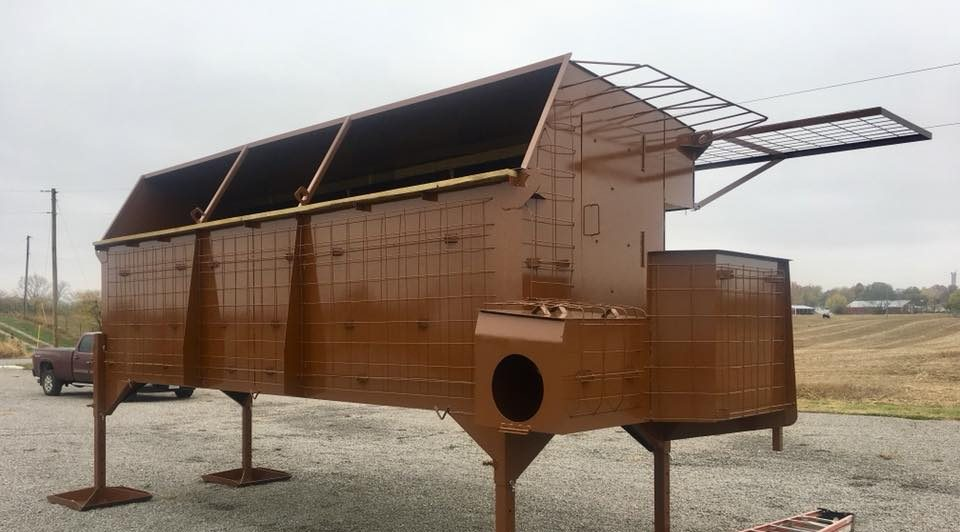 News Steel Waterfowl Pit Blinds Concealed Comfort Pits